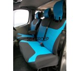 VW Transporter T4 Van Seat Covers Blue Leatherette - Made to Measure